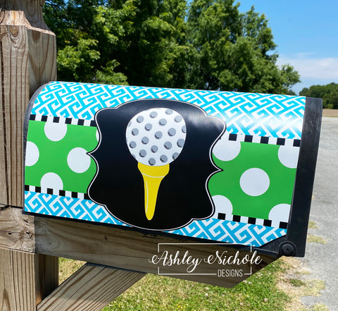 Golf Tee Magnetic Mailbox Cover