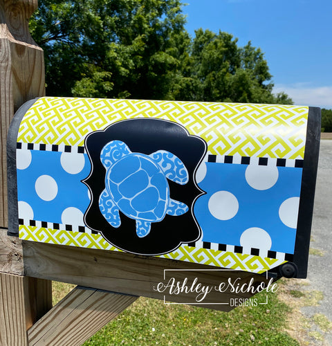 Sea Turtle Magnetic Mailbox Cover