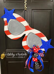 Sunglasses - Patriotic - Door Hanger