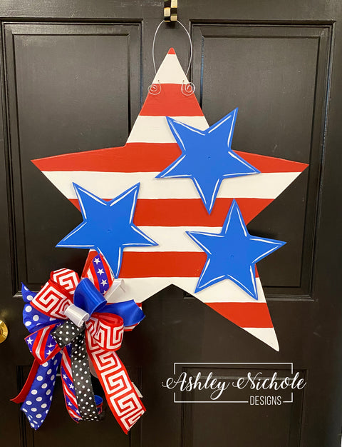 SURPRISE Deal!!! Stars and Stripes Door Hanger