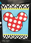 Disney - Mickey Mouse Inspired (Turq Background) Garden Vinyl Flag