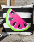"18"" Custom-Watermelon Pink Pillow"