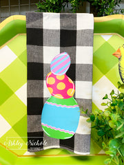 Easter Eggs-Buffalo Check Dish Towels