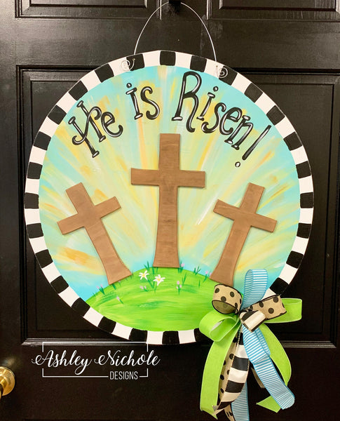 He is Risen Door Hanger