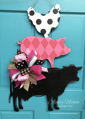 Farm Trio Door Hanger