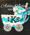 Bringing Home Baby Carriage Door Hanger