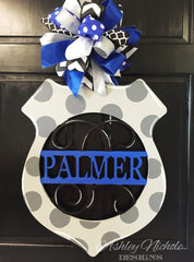 Police Monogramed Door Hanger
