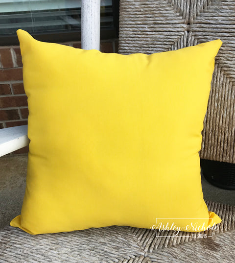 "18"" Outdoor Pillow - Sundeck Yellow Fabric"