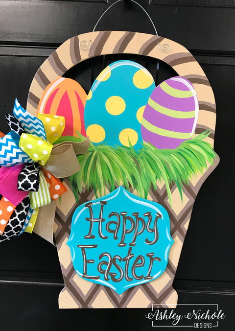 Easter Basket - CLASSIC - Door Hanger