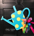 Watering Can with Polka Dots Door Hanger