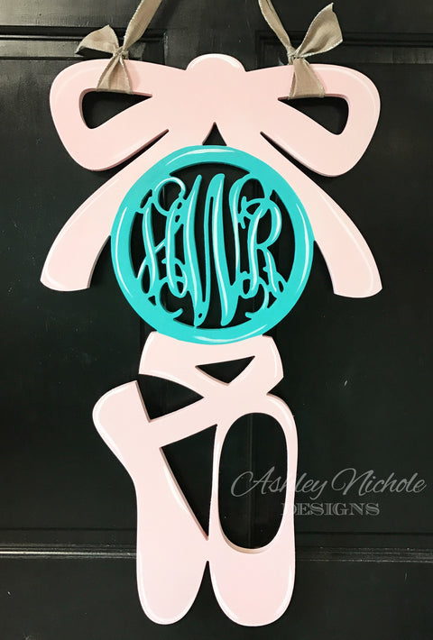 Ballet Monogram - Large- Door Hanger