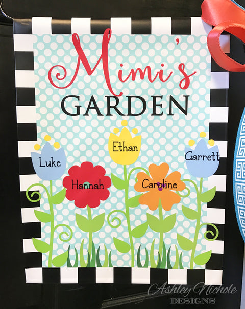 Family Flower Garden Vinyl Flag