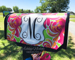 Tropical Floral Initial Magnetic Mailbox Cover