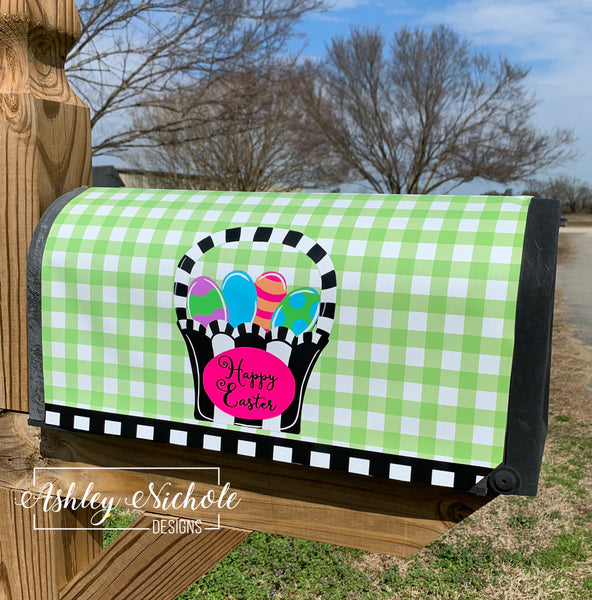 Easter Basket - Colorful & Funky - Mailbox Cover