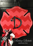 Firefighter Chevron Door Hanger
