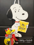 Puppy Dog - Snoopy Inspired - Door Hanger