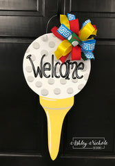 Golf Tee Door Hanger