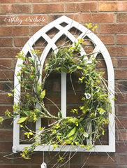 Arch Window - Large - With or Without Birch Wreath