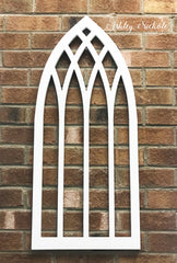 Arch Window - Small - With or Without Mini Leaf Wreath