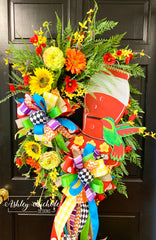 Hummingbird Feeder Wreath