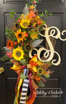 Sunflowers, Pomegranates & GLAM Fall Wreath