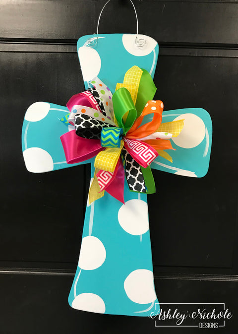 SURPRISE Deal!!! Polka Dot Cross Door Hanger