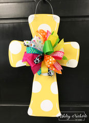 Polka Dot Cross Door Hanger