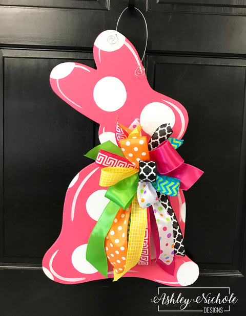 SURPRISE DEAL!!! Polka Dot Bunny Door Hanger