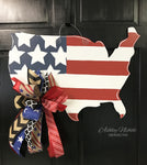 Patriotic USA Door Hanger