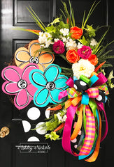 Flower Pot LARGE Round Wreath