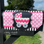 Baby Carriage Vinyl Mailbox Cover