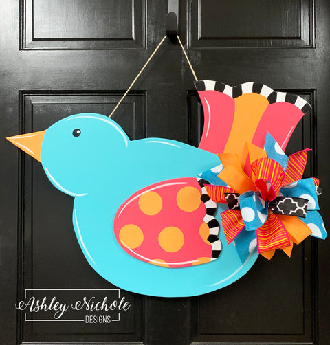 Bird - Colorful - Door Hanger