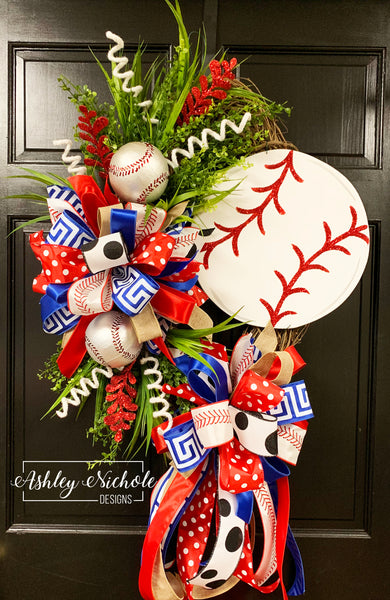 "24"" Oval - Team Baseball Wreath"