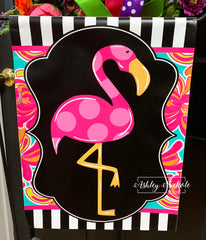 Flamingo Garden Vinyl Flag