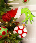 Tree DECOR - Grinch Inspired Hand & Ornament