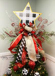 Tree Topper BUFFALO CHECK Snowman, Deer & Star Topper Bow Combo - Bow ONLY