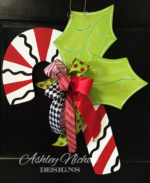 Candy Cane Door Decor