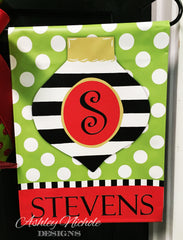 Ornament - Striped Garden Vinyl Flag