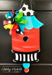 Bird House - Pagoda Style - Door Hanger