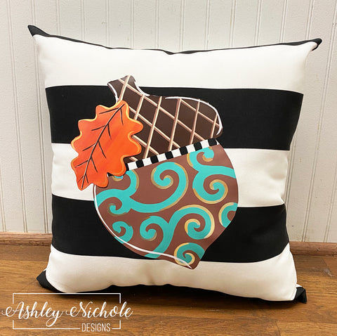 "Acorn Swirl 18"" Pillow"