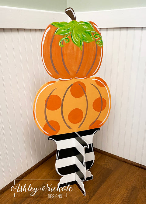 Pumpkin Topiary - STANDING 3-D Version
