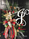 Burlap Christmas Poinsettia Wreath