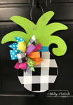 Pineapple - Small - Black Buffalo Check - Door Hanger