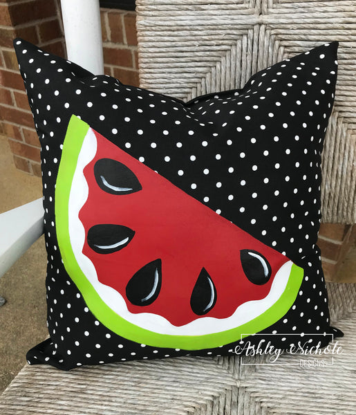 "18"" Custom-Watermelon Red Pillow"