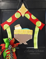 Manger - Red/Green - Door Hanger