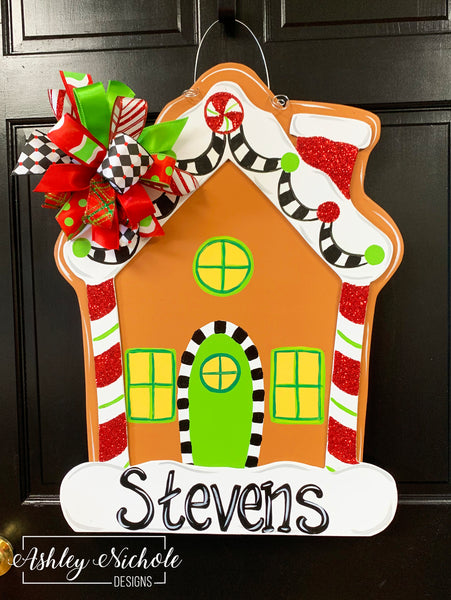 Gingerbread House Door Hanger
