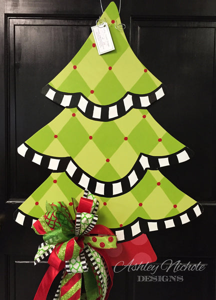 Christmas Tree - Harlequin - Door Hanger