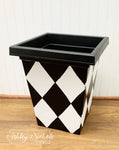 "13"" & 16"" Diamond Garden Planter - Square - Plastic"