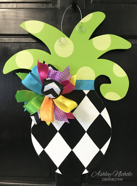 Pineapple-Small - Diamond - Door Hanger