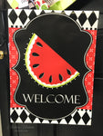 Watermelon Red Vinyl Garden Flag